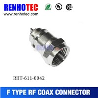 Factory Price F Plug RF Automotive Connector Electrical Terminal Tube F Connectors