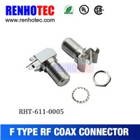Hot Sale F Jack Crimp Cable RF Electrical Connectors for PCB Mount Coaxial Connector