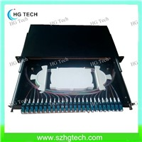 LC Duplex 24 Port Fiber Optic Patch Panel