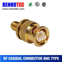 gold pin electrical connector for coaxial cable assembly