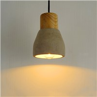 Minimalist cement pendant light countryside style cement lights LED cement pendant light