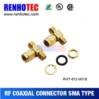 Made in China Male to Double Female Crimp Cable RF Coaxial SMA Tube Connector