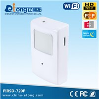 2015 new coming 1.0mp onvif 2.0 P2P Alarm photo email PIRSD-720p PIR WIFI hidden camera