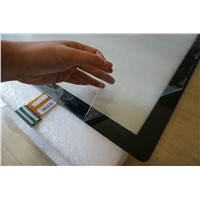 Large format projected capacitive touch screen