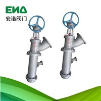 Manual flange long canister discharge valve