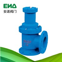 Pneumatic quick open angle type drain valve