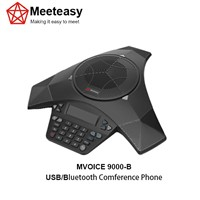 Meeteasy MVOICE 9000-B Conference corded phone with usb and bluetooth for softphones