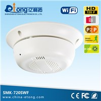 1.0MP hd cctv smoke detector micro ip camera for home and office security