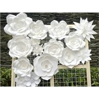 Customized handcraft Recycle decorative paper flower