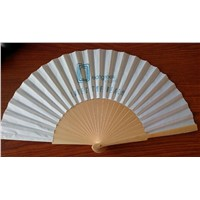 Attractive Spanish Promotion Wood Fan with Logo