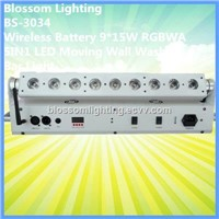 Wireless Battery 9*15W RGBWA 5IN1 LED Moving Wall Washer Bar Light (BS-3034)