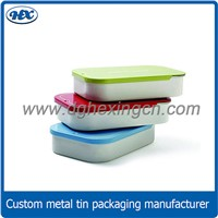 Custom printed lip balm slide tin mini mint sliding tin box