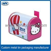 Metal mail box home decoration gift box in mailbox shape different size tin mailbox