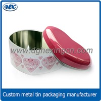 Upmarket heart shape tin metal packaging tin box for chocolate metal gift tin box
