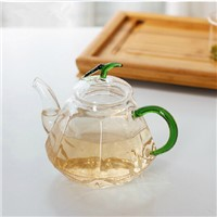 500ml Diamond Shaped Glass Teapot with color Handle Creative glass Gift Beautiful Office Decoration