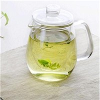 Simple Shaped Glass Teapot with Spout 500ml Heat Resistant Glass Teapot