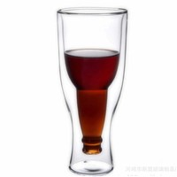 Creative Style Glass Beer Cup Clear Heat Resistant Glass Material Cup