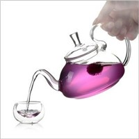 Creative Glass Teapot Beautiful Friend Gift Glass Tea and Coffee Tools Coffic Friend