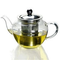 500ml Heat Resistant Glass Tea Pot with strainless steel strainer and lid Office Decoration