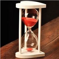 Beautiful Glass Sand Clock with Heart Frame Table Decorative Creative Wedding Favor Gift