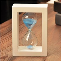 Beautiful Glass Sand Clock with Frame Home Decoration Fashion Friend Gift Customized