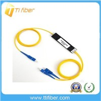 1x2 plc splitter of singelmode 2.0mm cable with FC connector