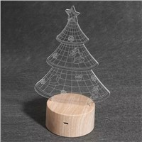 3D Optical Illusion Lamp Christmas Tree