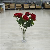 Cheap Artificial Red Rose Flower for Wedding Decoration