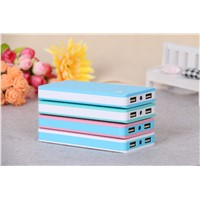 Colorful Lithium Polymer Power Bank with LED Charging Indicator