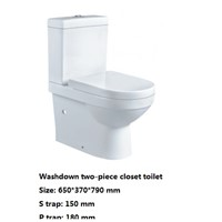 Washdown two-piece closet toilet