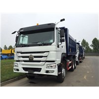 SINOTRUK HOWO 6x4 Dump Truck with flat roof long cab , 336HP