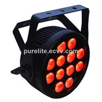 Slim Flat Housing RGBWA UV LED Par Can Light with Powercon for Show Events club Party Stage Lighting