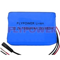 22.2V 10400mAh 18650 lithium ion battery pack
