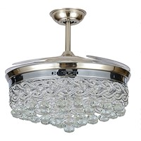 Chandelier Crystal LED 42inch Ceiling Fans with Light