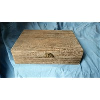 paulownia wood box with burned