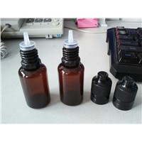 15ml amber pet bottle with tamper evident cap