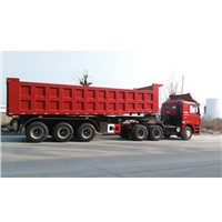 30cbm Front Lifting Dump Semi-trailer with HYVA cylinder 3 Axles