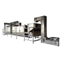 Hot selling continuous soybean roaster
