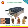 wholesale open mouth fish shape ice cream taiyaki machine/taiyaki waffle maker