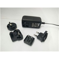 12V1.5A/15v Adapter with Replaceable Plug with VI level efficiency