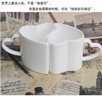 Ceramic Mugs Double Lover Cups