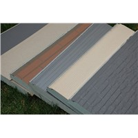 Carved metal external wall insulation board