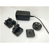 High Quality AC DC Power Adapter with exchangeable plugs 9V12V