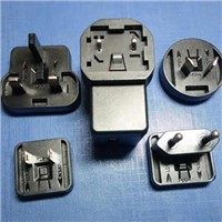 USB Charger with inter changeable plugs for EU/UK/US/AU