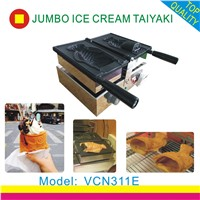 wholesale electric taiyaki waffle maker/supply open mouth ice cream taiyaki maker machine