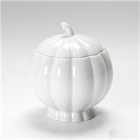 White Pumpkin Ceramic Candle containers, candle vessels