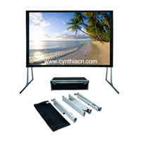 Cynthia Large Portable Screen Fast Fold Projector Screen Front and Rear Projection