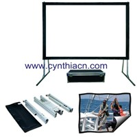 Portable Fast Fold Projector Screen Front and Rear Projection 100inch