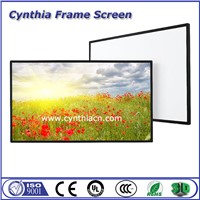 Front & Rear Projection PVC Fabric Fixed Frame Projector Screen