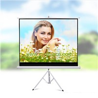 HD Fabric 3D&4K Portable Tripod Projector Screen (100inch)